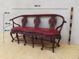 Three-seater carved