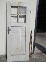 right white door partially glazed