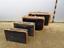 Set of four suitcases