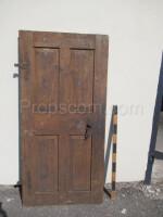 door left brown