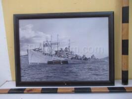 image of battleships and supply ships