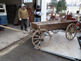 Wooden flatbed