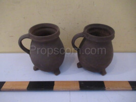 Brown ceramic jugs