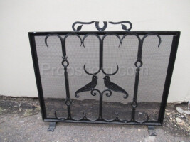 Forged fireplace screen