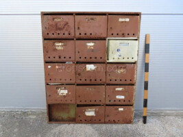 Mailboxes brown