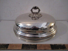 Silver tray decorated