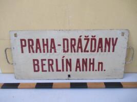 information signs: Prague - Dresden - Berlin AHN.n.