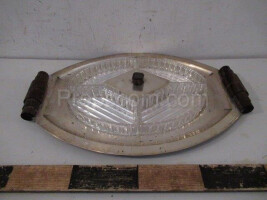 Silver tray with bowl