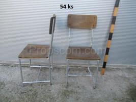 Wood metal chair