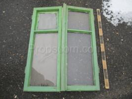 wooden shutters double-leaf green