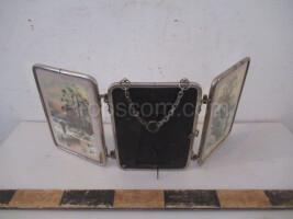 Folding table mirror