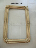 wooden frame decorated with bright