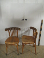 Varnished wooden chairs