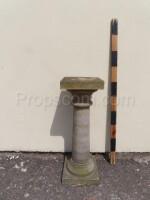 Column under a flowerpot