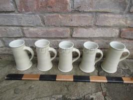 White ceramic mugs