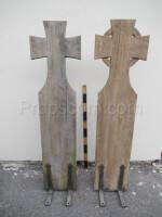 Wooden cemetery crosses