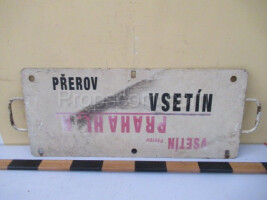 information sign: Vsetín - Prague