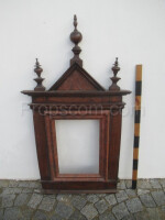massive wooden frame decorated