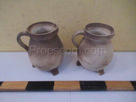 White-brown ceramic jugs