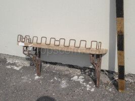 Shelf wood metal wall