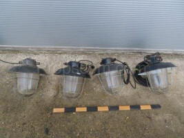 Industrial safety lamps black