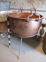 Boiler on a copper pedestal