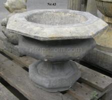 Ornamental flowerpot wide