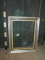 wooden silver frame