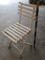 garden wooden folding chair