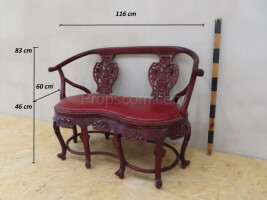 Carved double armchair