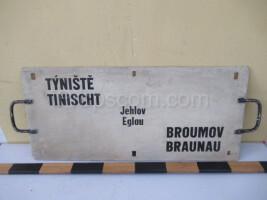 information sign: Týniště - Broumov