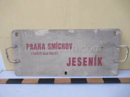 information sign: Prague Smíchov - Jeseník
