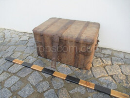 wooden chained box