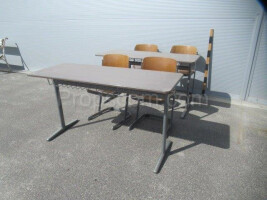 School desks and chairs whole set