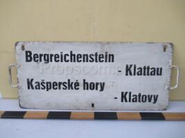information sign: Bergreichenstein - Klattau